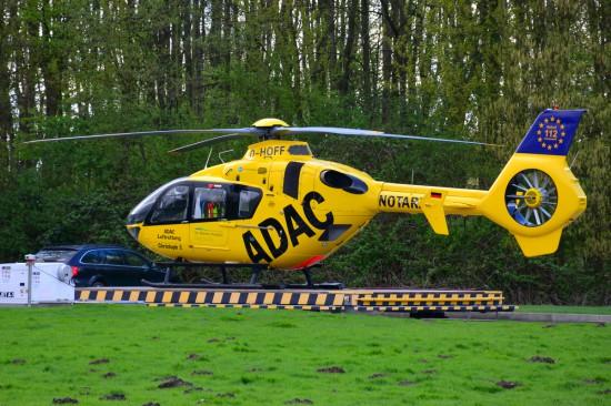 """Bei der betroffenen Maschine handelte es sich vermutlich um die EC 135 """"D-HOFF""""."""
