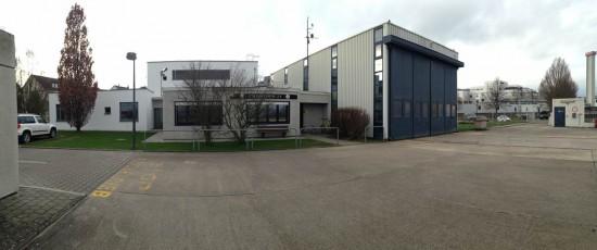 """Wurde Mitte April offiziell an die ADAC-Luftrettung übergeben: der neue Sozialtrakt der Luftrettungsstation """"Christoph 23"""" am BwZKhrs Koblenz"""