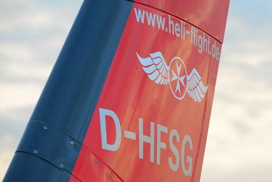 Neuerdings ist das Logo der Johanniter Luftrettung auch auf den Heckfinnen der Einsatzmaschinen zu finden