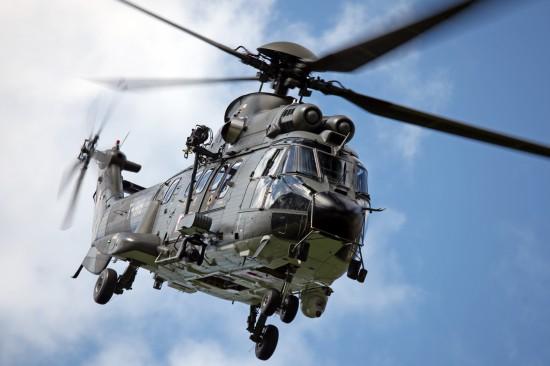SAR Maschine AS 332M1 Super Puma der Schweizer Luftwaffe