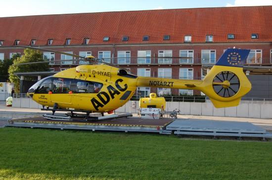"""Währenddessen startete """"Christoph 26"""" weiterhin von seiner Homebase am Nord-West-Krankenhaus in Sande aus zu seinen Einsätzen"""