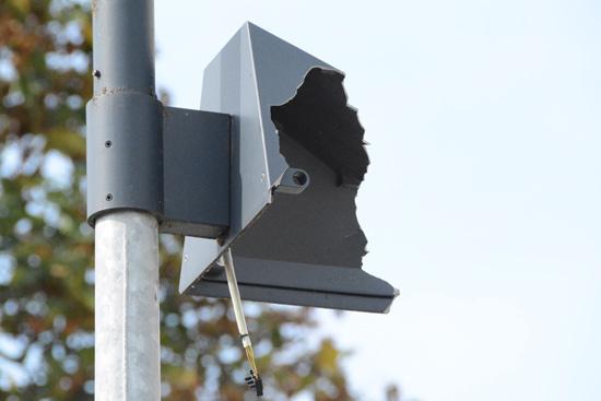 Schaden an der Straßenbeleuchtung