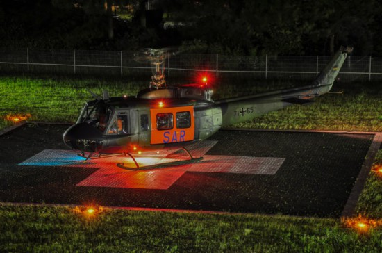 Die SAR-Hubschrauber der Bundeswehr stehen Tag und Nacht zur Verfügung (hier eine Aufnahme aus Bonn)