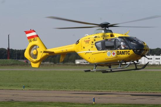 Die OE-XEJ bei einem Trainingsflug am Flughafen Lelystad.