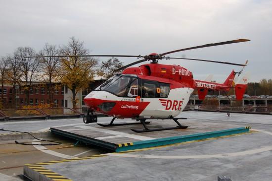 """Wird Mitte November 2016 durch eine EC 145 ersetzt: die als """"Christoph 42"""" in Rendsburg viele Jahre eingesetzte BK 117"""