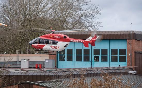 Seit dem 20.11.2016 ist an der Rendsburger Station ein Hubschrauber des Typs EC 145 im Einsatz