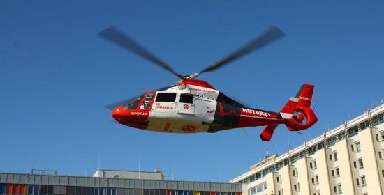 """Der am Krankenhaus Südstadt in Rostock stationierte ITH """"Christoph Rostock"""" fliegt zurzeit mit Maschinen von Rotorflug"""