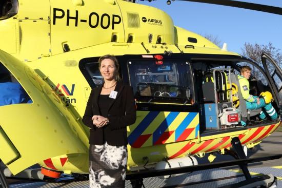 """Petra van Saaze bei der Präsentation des """"Medic 01""""für die Medien"""