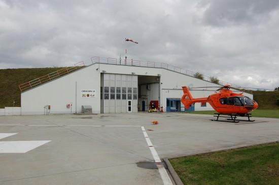 """Am 14. Juli öffnet die Luftrettungsstation """"Christoph 34"""" ihre Pforten (hier eine Archivaufnahme der Station aus dem Spätsommer 2010)"""