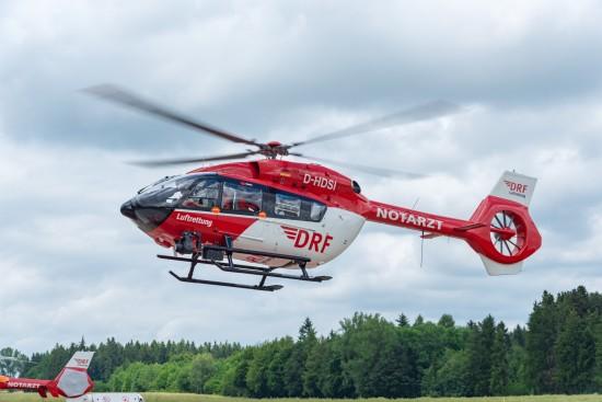 Start zum ersten Einsatz mit dem neuen Hubschraubertyp.