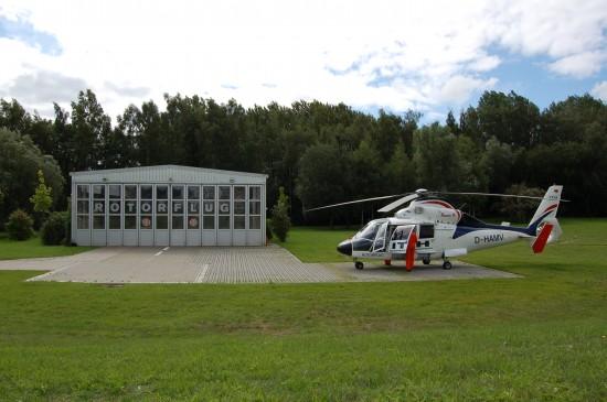 So sah das Luftrettungszentrum Rostock im September 2010 aus