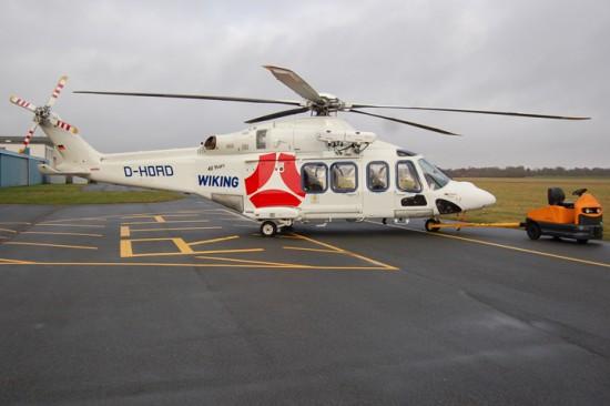 Im Offshore-Werkrettungsdienst setzt Wiking eine hochmoderne AW139 ein