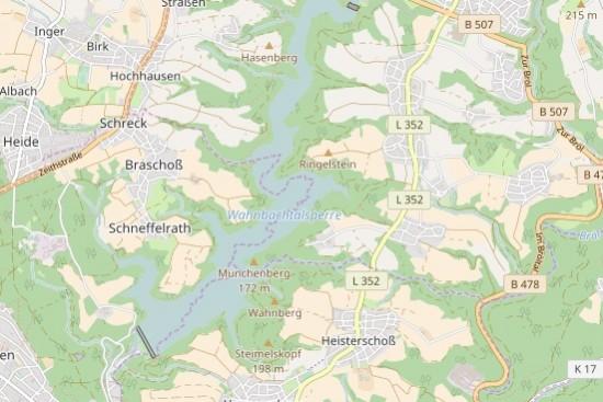 Die Talsperre nahe Siegburg und Hennef