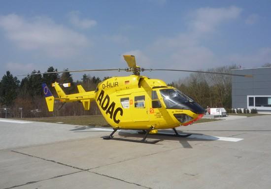 Als Erstes traf es die BK 117 mit dem Kenner D-HLIR (hier als Neuzugang 2008 am BwK Ulm zu sehen)