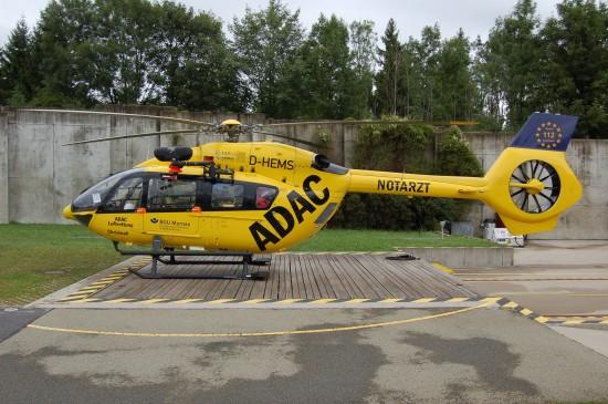 Murnau war der erste Standort der ADAC Luftrettung, der die H145 einsetzte (hier die Standortmaschine D-HEMS im August 2017 an ihrer Homebase)