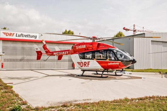 Das Team DRF war 2003 die erste Luftrettungsorganisation weltweit, die die EC 145 einsetzte. Nun fliegt die EC 145 auch in Stuttgart