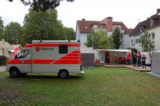 Beim diesjährigen Libori-Fest in Paderborn wurden die Sanitätsdienste stark aufgerüstet (hier eine Unfallhilfsstelle der Malteser)