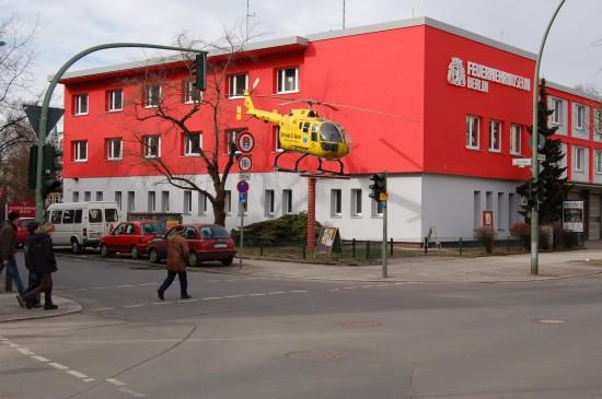 Steht inzwischen vor dem Berliner Feuerwehrmuseum: die 1987 in Betrieb gegangene BO 105