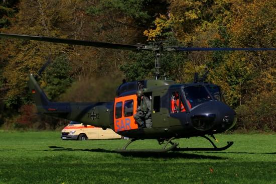 """Auch auf den in Niederstetten (Main-Tauber-Kreis) stationierten SAR-Hubschrauber """"SAR 63"""" kann im Notfall zurückgegriffen werden"""