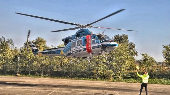 Hier landet die Bell 412 mit dem Kenner D-HAFE im Oktober 2017