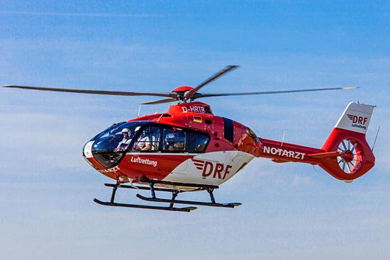 """Fliegt als der neue """"Christoph 36"""": Das Hubschraubermuster H 135"""