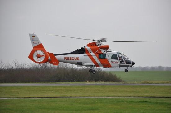 Fly-In des NHC-Hubschraubers