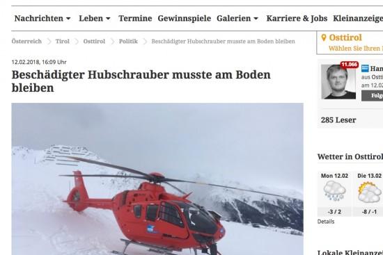 Einer der österreichischen Medienberichte