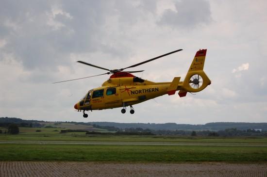 """""""Rescue Northern 01"""" war Anfang September 2017 zwecks Wartungsarbeiten in Reichelsheim/Wetterau bei HeliFlight"""
