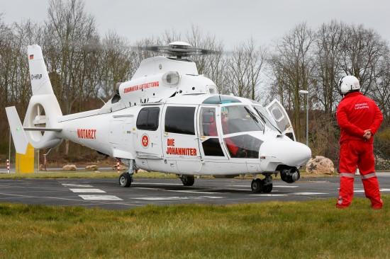 """Der Landeplatz am Krankenhaus Maria Hilf in Bad Neuenahr wird regelmäßig vom """"Air Rescue Nürburgring"""" angeflogen"""