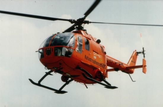 Von 1978 bis 1996 flog in Saarbrücken ein Zivilschutz-Hubschrauber (ZSH) des Bundes vom Typ BO 105