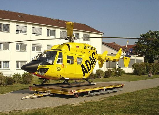 Schon kurze Zeit später wurde die EC 135 durch eine BK 117 abgelöst, ...
