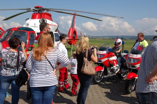 Zum Tag der offenen Tür im September 2017 am Johanniter-Luftrettungszentrum Reichelsheim (Wetterau) kamen Tausende