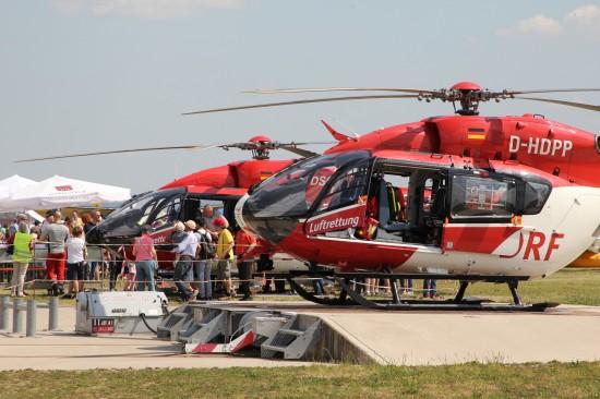 DRF Luftrettung erstmals mit EC 145 auf dem Fliegerfest