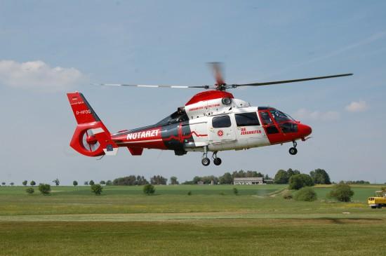 """Zu den sekundären Luftrettungsmitteln in Hessen gehören die ITH der Johanniter Luftrettung (hier der ITH """"Akkon 89-2"""" am 12. Mai 2018 beim Start am Flugplatz Wehrheim)"""