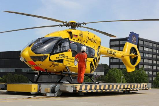 Seit der Übernahme im Jahr 2003 durch die ADAC Luftrettung gGmbH flog eine gelbe BK 117 in Ulm, welche nun seit Anfang 2018 durch einen hochmodernen H 145 vom Typ Airbus Helicopters ersetzt wurde