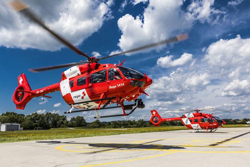 Die erste von sechs H145 startet zu ihrem Überführungsflug in die Schweiz