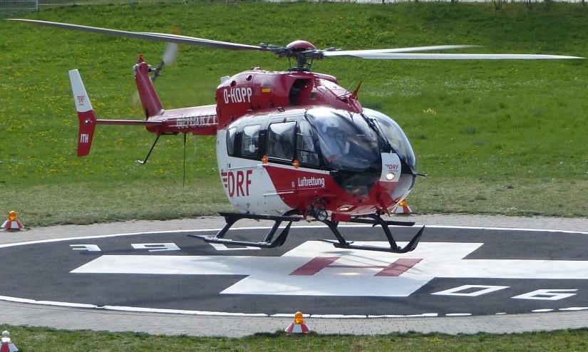 Symbolfoto: Ein Rettungshubschrauber der DRF Luftrettung