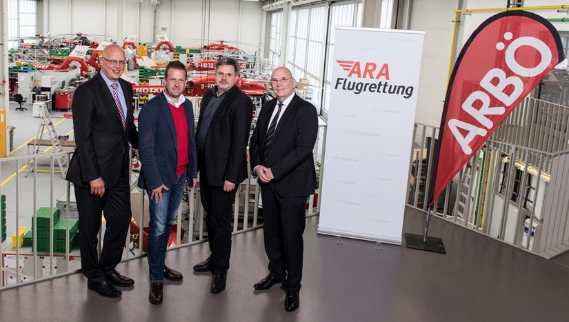 Einträchtig vereint: (v.l.n.r.)  Dr. Hans Jörg Eyrich (DRF), Mag. Thomas  Jank, Günther Schweizer (beide ARBÖ) und Dr. Peter Huber (ARA) (Archivaufnahme aus dem Oktober 2017)
