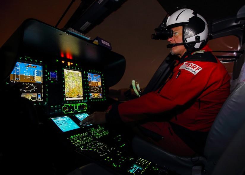 Nachteinsatz mit hochmodernem Hubschrauber