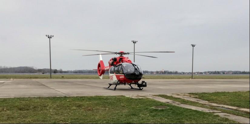 """Am 10. und 11. August an der DRF-Station Bautzen zu besichtigen: der Dual-Use-Hubschrauber """"Christoph 62"""", die H145 der DRF Luftrettung mit Rettungswinde"""