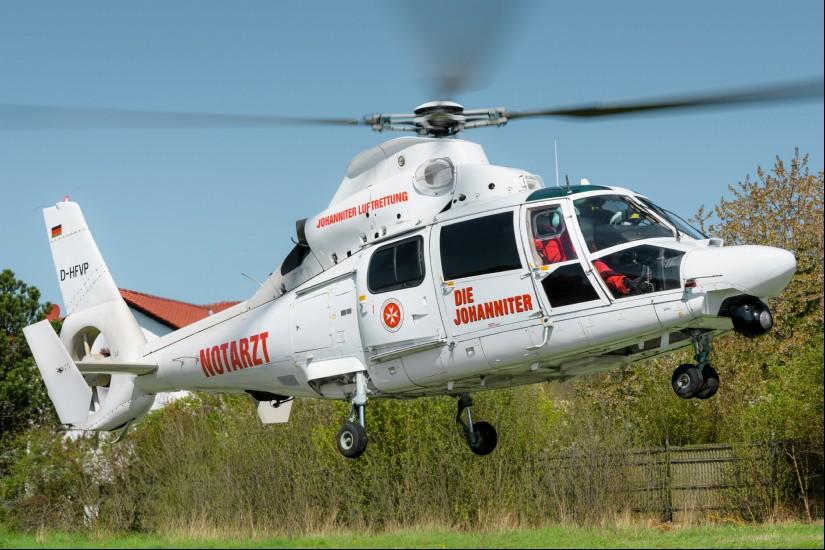 """In den letzten zehn Monaten kam mehrfach auch die """"White Lady"""" (D-HFVP) in der Westpfalz zum Einsatz"""