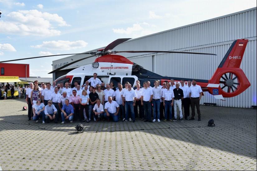 Am 16. August 2019 wurde die D-HFLG vom Typ EC 155 B1 erstmals einer breiten Öffentlichkeit vorgestellt  – anlässlich der 40-Jahr-Feier der Firma Heli-Flight