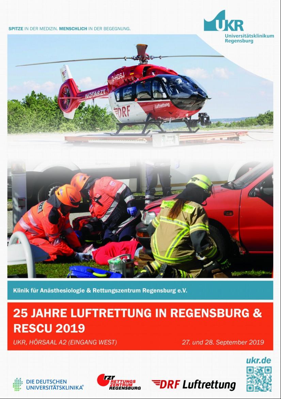 """Am Freitag, dem 27.09.2019, findet am UKR ein Kurzsymposium unter dem Titel """"25 Jahre Luftrettung in Regensburg""""  statt"""