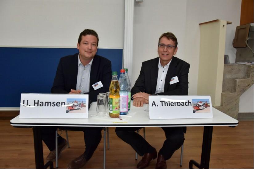 Uwe Hamsen (BGU Bochum) und Andreas Thierbach (Klinikum Idar-Oberstein) moderierten eine der insgesamt drei Sessions, ...