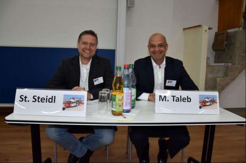 ..., Stefan Steidl (UGKM) und Mumi Taleb (JLR) eine weitere