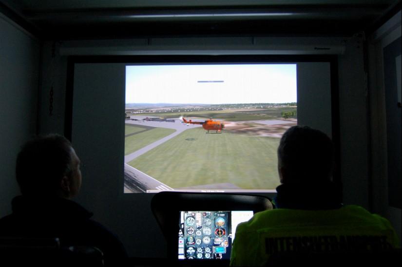 Damals konnte man sich im Flugsimulator noch als Pilot der guten, alten BO 105 CBS-5 versuchen