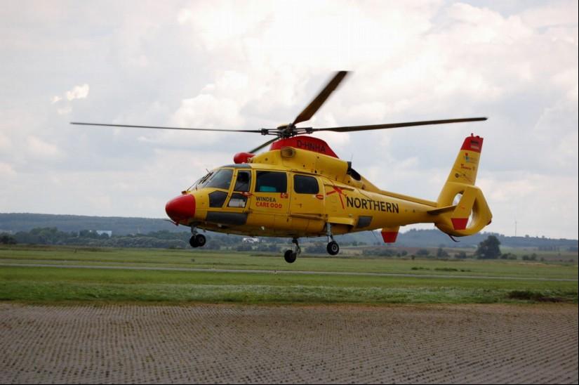 NHC, seit Jahresbeginn eine 100-prozentige Tochter der DRF Luftrettung, setzt an Nord- und Ostsee unter anderem AS 365 N2/N3 mit Rettungswinde als Offshore-RTH ein (Archivfoto aus dem September 2017)