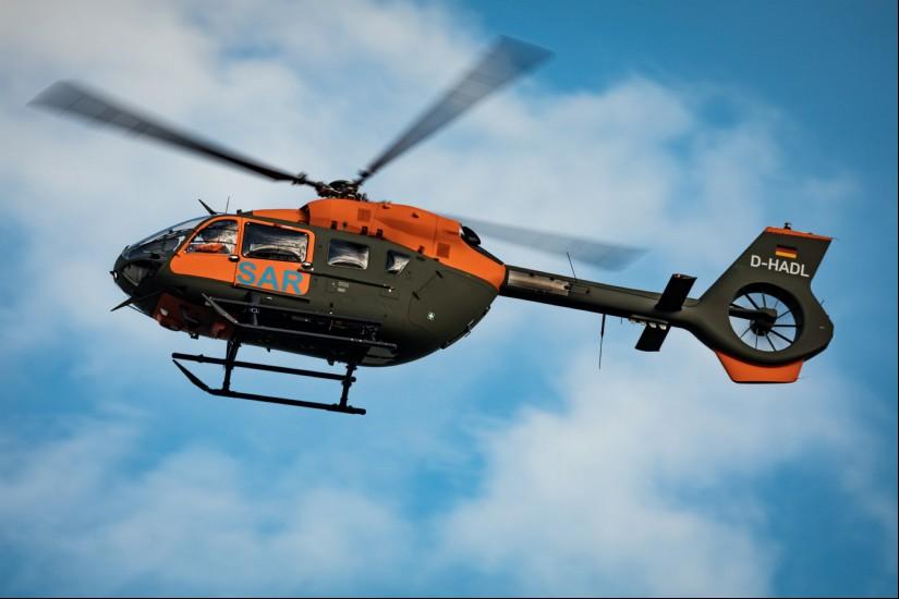 Während der Erprobung bei Airbus Helicopters trug die H145 LUH SAR noch das zivile Kennzeichen D-HADL