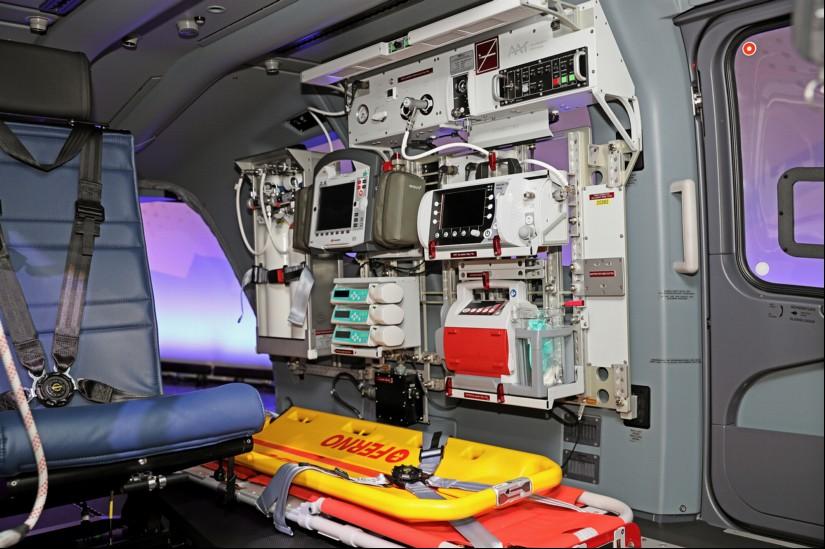 Die medizinische Innenausrüstung für die neuen H145 LUH SAR, lieferte die Firma Air Ambulance Technology