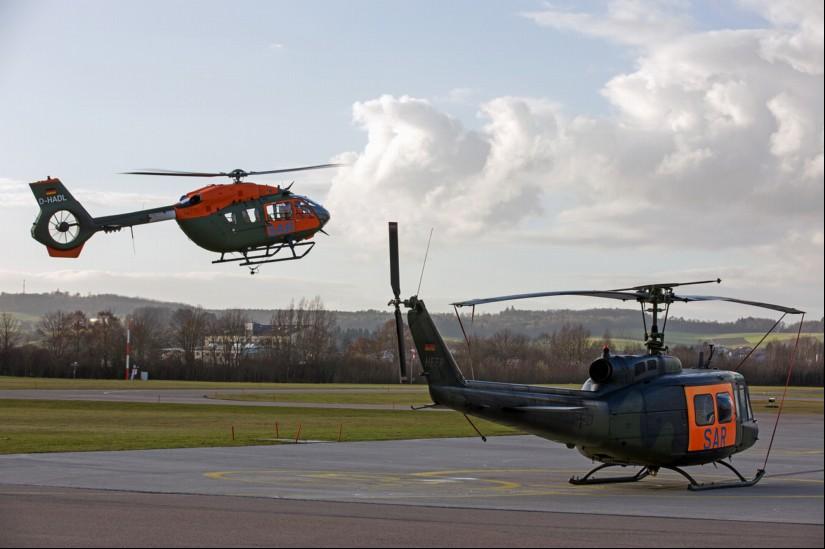 Nach rund fast 50 Jahren Dienstzeit bei der Bundeswehr, wird die Bell UH 1D gegen einen modernen Einsatzhubschrauber vom Typ H145 LUH im Such- und Rettungsdienst ersetzt